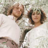 Basset, under trees